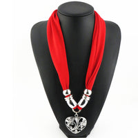 2016 NEW Hot Women Hollow Flower Heart pendant scarf jewelry tassels beads Cotton Soft Necklace scarves AL S263 - 10MINUS: Online Shopping Destination with High-Quality