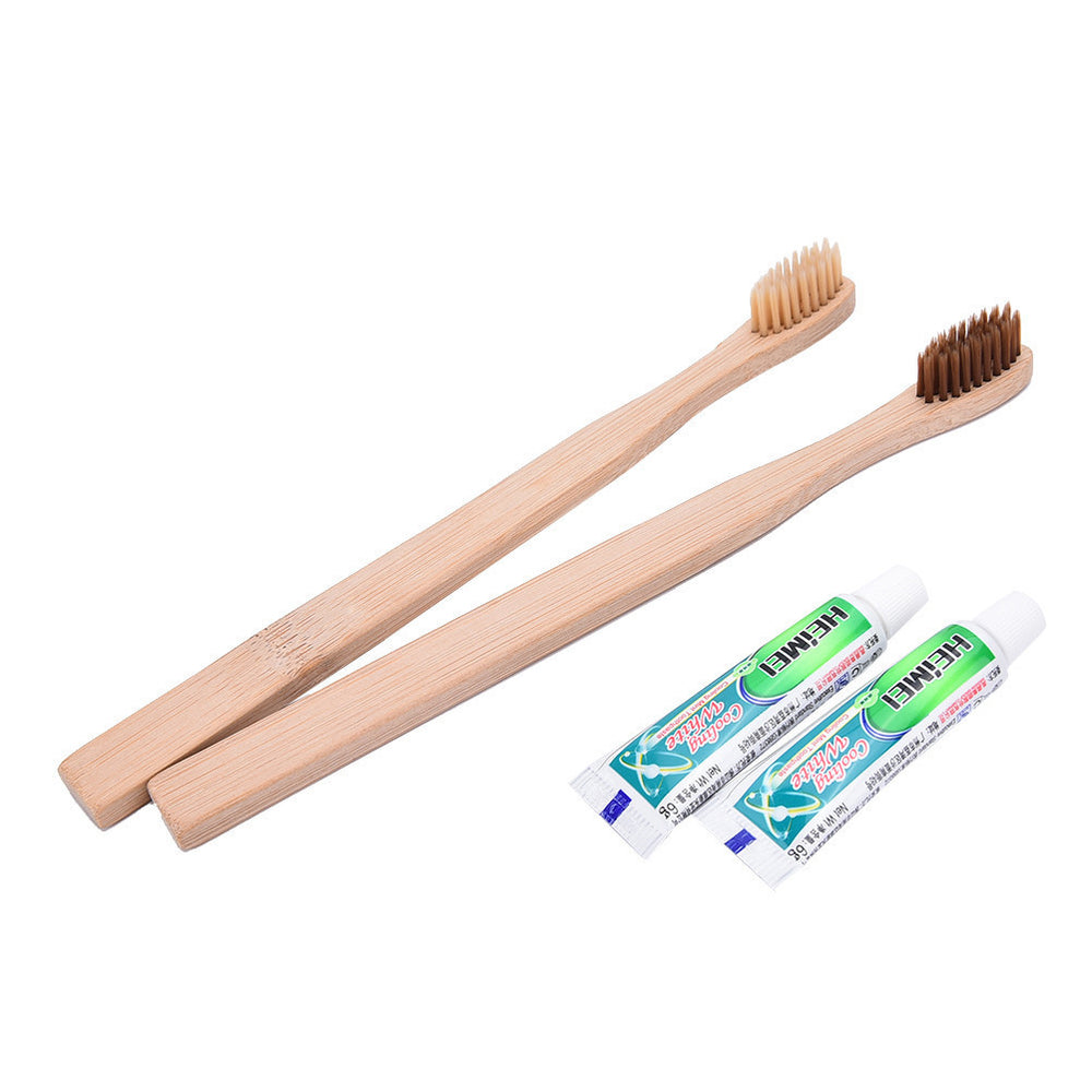 Eco-friendly toothbrush bamboo toothbrushes Adult medium soft-bristle capitellum bamboo fibre wooden handle bathroom accessories - Best price in 10minus