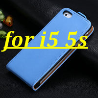 New ! Retro Real Genuine Leather Case for iPhone 4 4S 4G 5 5S 5G Luxury Vertical Magnetic Flip Phone Accessories Cover Black - 10MINUS: Online Shopping Destination with High-Quality