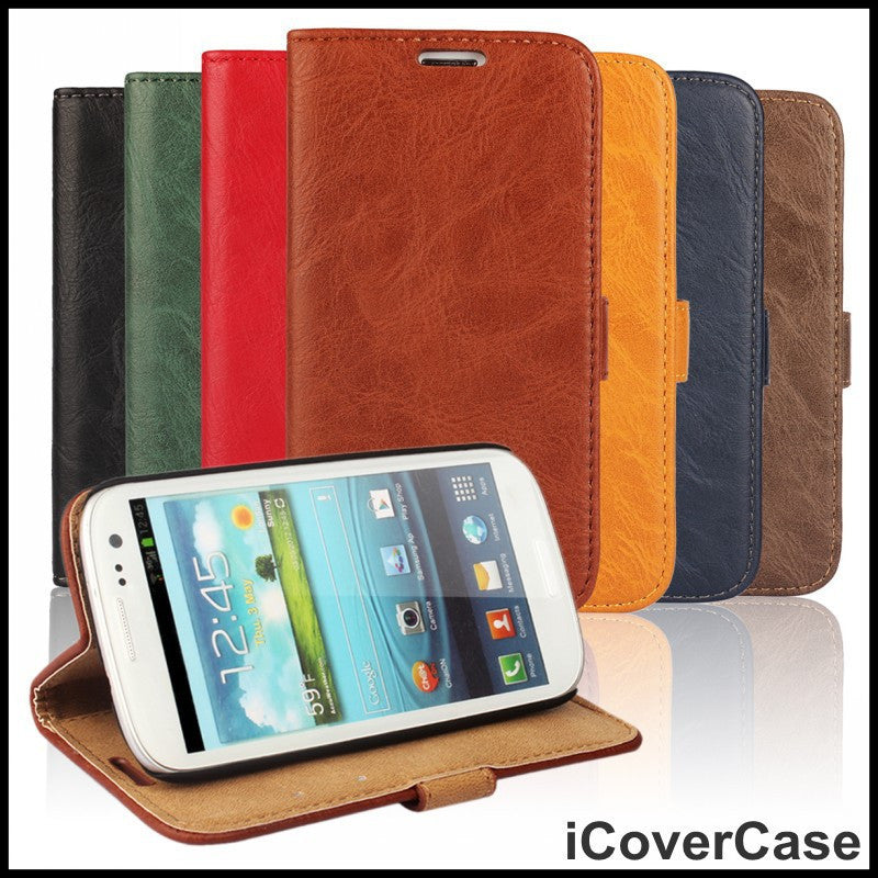 For Samsung Galaxy S3 Phone Case Cover Leather Mobile Bag Accessory Fundas For Samsung Galaxy S3 Mini i8190 Cases Cover Coque - Best price in 10minus