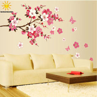 Free Shipping Removable PVC Modern  Peach blossom  Butterfly Home Decor Art  Wedding Room Girls Room Wall Stickers  Decal Poster - 10MINUS: Online Shopping Destination with High-Quality