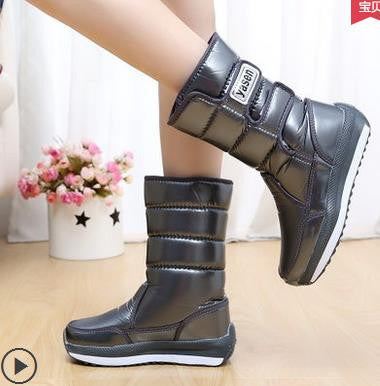 2016 Autumn brand boots winter plus velvet  knee-high waterproof thermal cotton-padded  platform snow boots woman winter shoes - 10MINUS: Online Shopping Destination with High-Quality