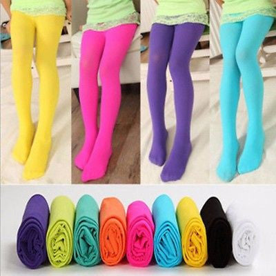 GIRLS KIDS OPAQUE BALLET DANCE TIGHTS PANTYHOSE STOCKINGS VELET CHILDREN GIRL HOSIERY S M L - Best price in 10minus