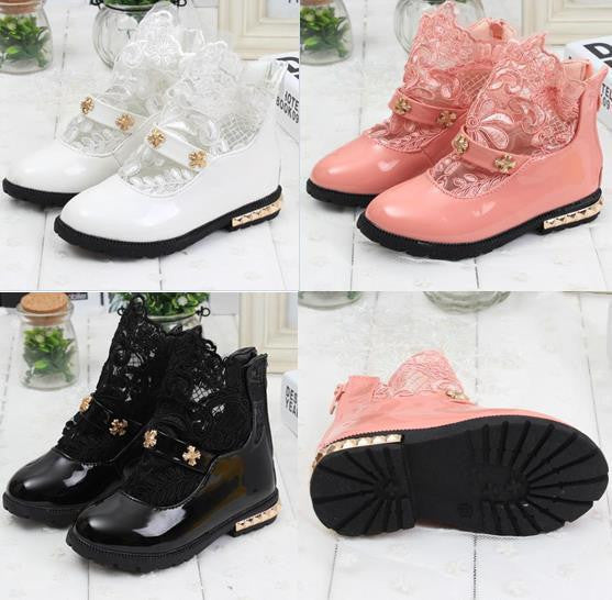 Girls Martin single boots 2016 children's s summer style shoes for girls patent leather boots waterproof boots Korean tide C8 - Best price in 10minus