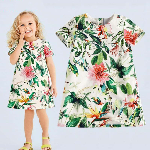 Girls Summer Dresses  Scented pattern European Patterns high quality - Best price in 10minus
