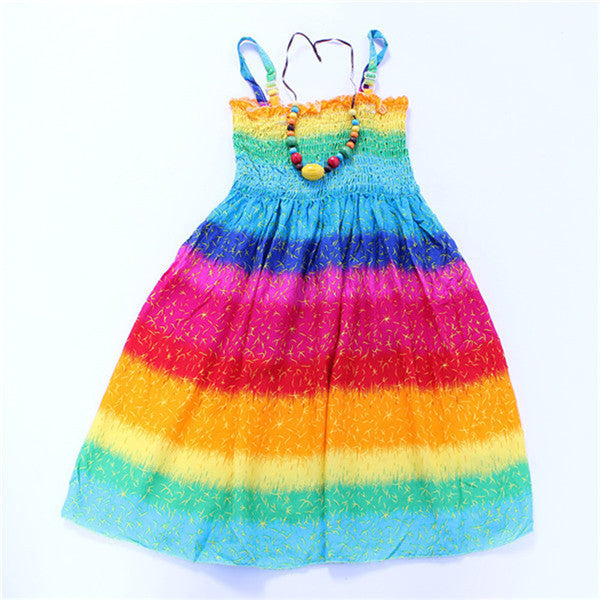 Girls Summer Dresses Beach Dress modern style fashion-bright colors - Best price in 10minus