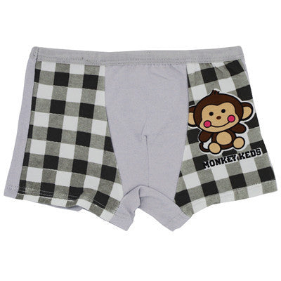 1-16Year Baby Boys Girls Boxer Shorts Cartoon Monkey Boy Girl Underwear Pants Kids Underpants 100%Cotton Children Clothing - 10MINUS: Online Shopping Destination with High-Quality
