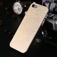 Cool Metal Gold Case For Apple iphone 5 5S SE Aluminum Plastic Hard Back Phone Accessories Brand Logo Luxury Cover for iPhone 5S - Best price in 10minus