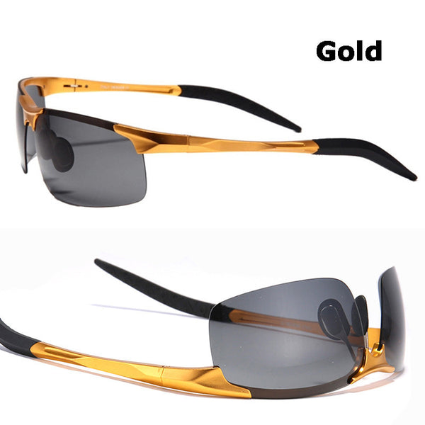Hot Sale men's aluminum-magnesium car drivers night vision goggles anti-glare polarizer sunglasses Polarized Driving Glasses - Best price in 10minus
