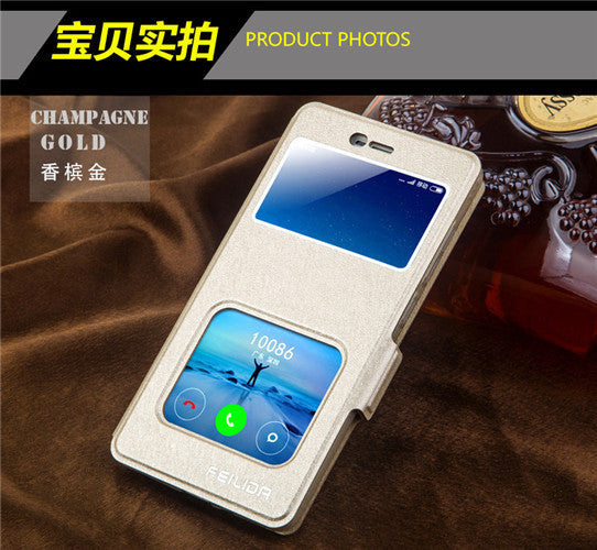 Xiaomi Redmi 3S High Quality View Window PU Leather Case For Xiaomi Redmi 3 Pro/Redmi 3S With Phone Rope #0726 - 10MINUS: Online Shopping Destination with High-Quality