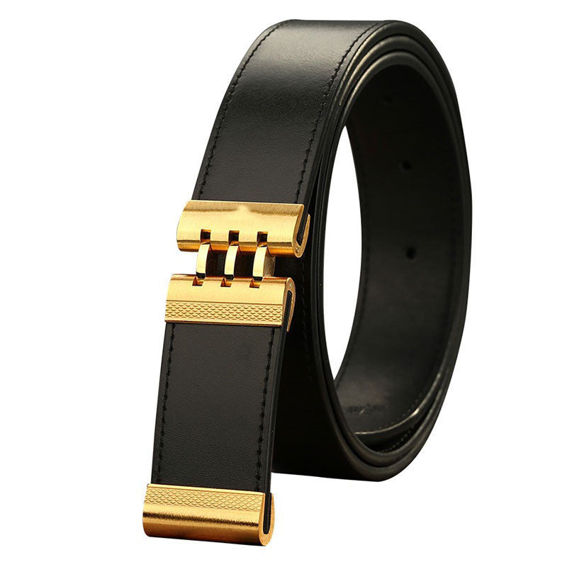 2016 New Brand Designer Belts Men High Quality Genuine Leather Automatic Buckle Belts For Men Luxury Business Casual Waistband - 10MINUS: Online Shopping Destination with High-Quality