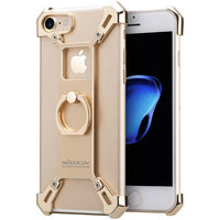 Nillkin for iphone 7 7Plus case cover bumper Bardes 4.7 & 5.5 Aluminum alloy back Cover with ring phone holder for iphone7 case - Best price in 10minus
