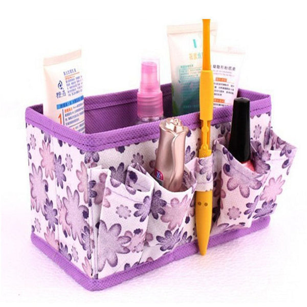 Good  Quality New Makeup Cosmetic Storage Box Bag Bright Organiser Foldable Stationary Container - Best price in 10minus