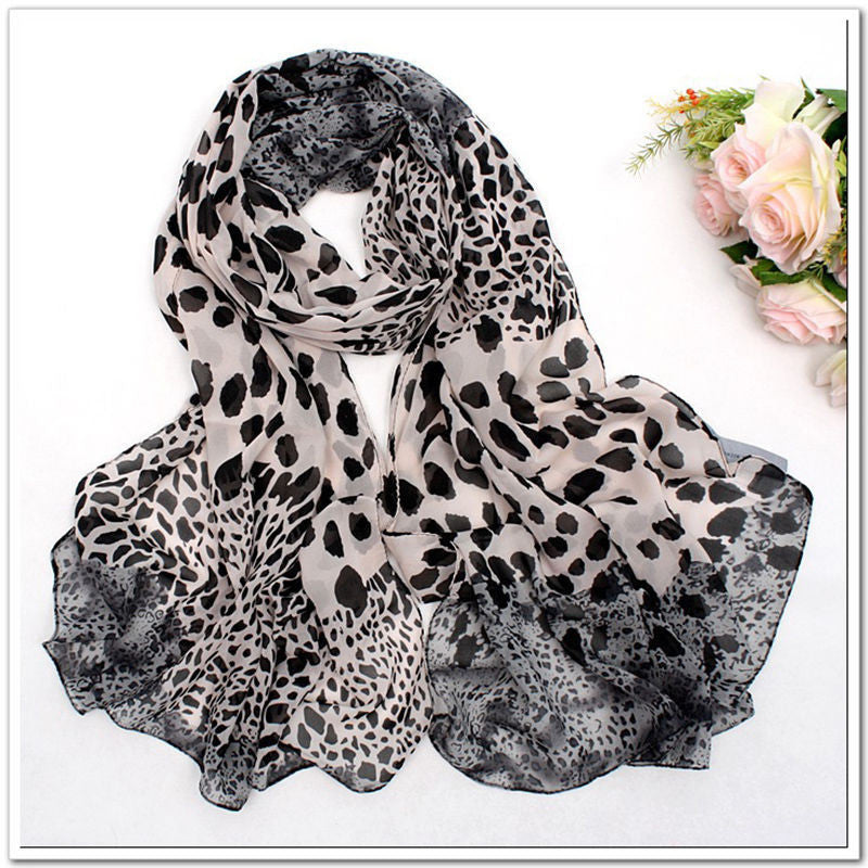 1pc Noble Fashion Women's Long Soft Wrap Lady Shawl Silk Leopard Chiffon Scarf Shawl Stole clothing  2 colors - 10MINUS: Online Shopping Destination with High-Quality