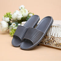 Summer Slippers Men Bathroom Bedroom Sandals Stripe Antiskid Flats Bath Home Slippers Indoor Outdoor Slippers Massage Shoes Men - 10MINUS: Online Shopping Destination with High-Quality