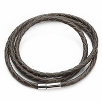 New Fashion 100% Genuine Braided leather bracelet Men Bracelet for Women Jewelry with Magnetic Clasps Charm Bracelet F2821 - 10MINUS: Online Shopping Destination with High-Quality