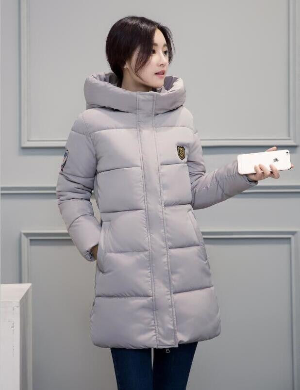 White Winter Coat Women  Hot Sale Long Parka Fashion Students Slim Female Clothing Plus Size S-2XL Thick Jackets - Best price in 10minus