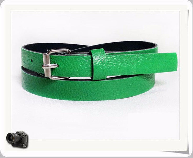 2016 New Fashion Candy color Women's Leather belts thin Belts For Women cintos femininos Wholesale Free Shipping ZL187 - 10MINUS: Online Shopping Destination with High-Quality