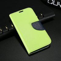 S4 S5 S6 Cases Fashion Hit Color Magnetic Flip PU Leather Phone Case For Samsung Galaxy S3 S4 S7 Card Slot Wallet Holster Cover - 10MINUS: Online Shopping Destination with High-Quality