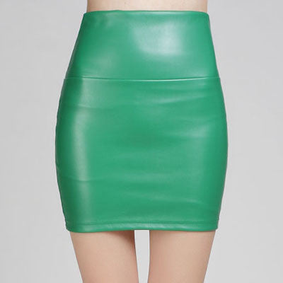 2016 New fashion Women faux pu Leather skirt high waist party clothing female short pencil woman skirts saias femininas - 10MINUS: Online Shopping Destination with High-Quality