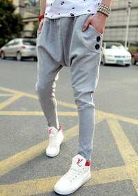Male HIPHOP Low Drop Crotch Pants Men Hip Hop Sarouel Men Jogger Pants Baggy Trousers Loose Pantalon Harem Pants Size M-2XL - 10MINUS: Online Shopping Destination with High-Quality