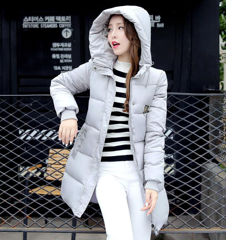 Fashion Long Winter Jacket Women Slim Female Coat Thicken Parka Cotton Clothing Red Clothing Hooded Student - 10MINUS: Online Shopping Destination with High-Quality