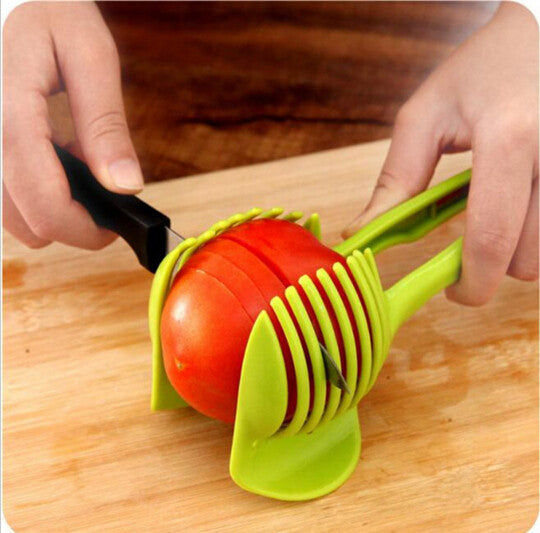 Handheld Creative Kitchen Fruit And Vegetable Slicer Orange Lemon Cutter Cake Clip Multi-function Kitchen Tool - Best price in 10minus