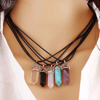 Hexagonal Pendant Chains Resin Turquoise Color Leather Rope for Pendant Necklace Bracelet Collar DIY Jewelry Making Accessories - Best price in 10minus