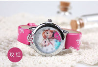 2016 New relojes Cartoon Children Watch Princess Elsa Anna Watches Fashion Kids Cute relogio Leather quartz WristWatch Girl Gift - 10MINUS: Online Shopping Destination with High-Quality