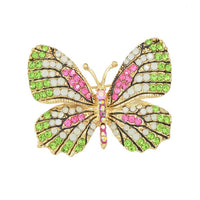 Jewelry Luxury Brooch Gold Plated with Colorful Rhinestone Lovely Butterfly Brooches for Lady Accessories - 10MINUS: Online Shopping Destination with High-Quality