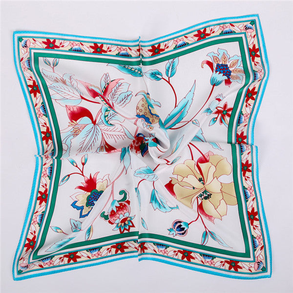100% Silk 55*55cm Small Size Lady Neckscarf,  Fashion collective scarves women, Hand Printing pure silk scarfs original design - 10MINUS: Online Shopping Destination with High-Quality