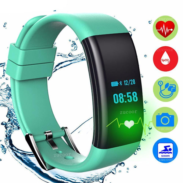 IP68 Smart Band Bracelet Watch Blood Pressure Oxygen Heart Rate Monitor Wristband Ladies Reloj Inteligente For iOS Android Women - 10MINUS: Online Shopping Destination with High-Quality