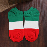 1 Pair Hot Sale Men Fashion Casual Autumn Spring Free Size Leisure Low Cut Crew Flag Cotton Ankle Socks - 10MINUS: Online Shopping Destination with High-Quality