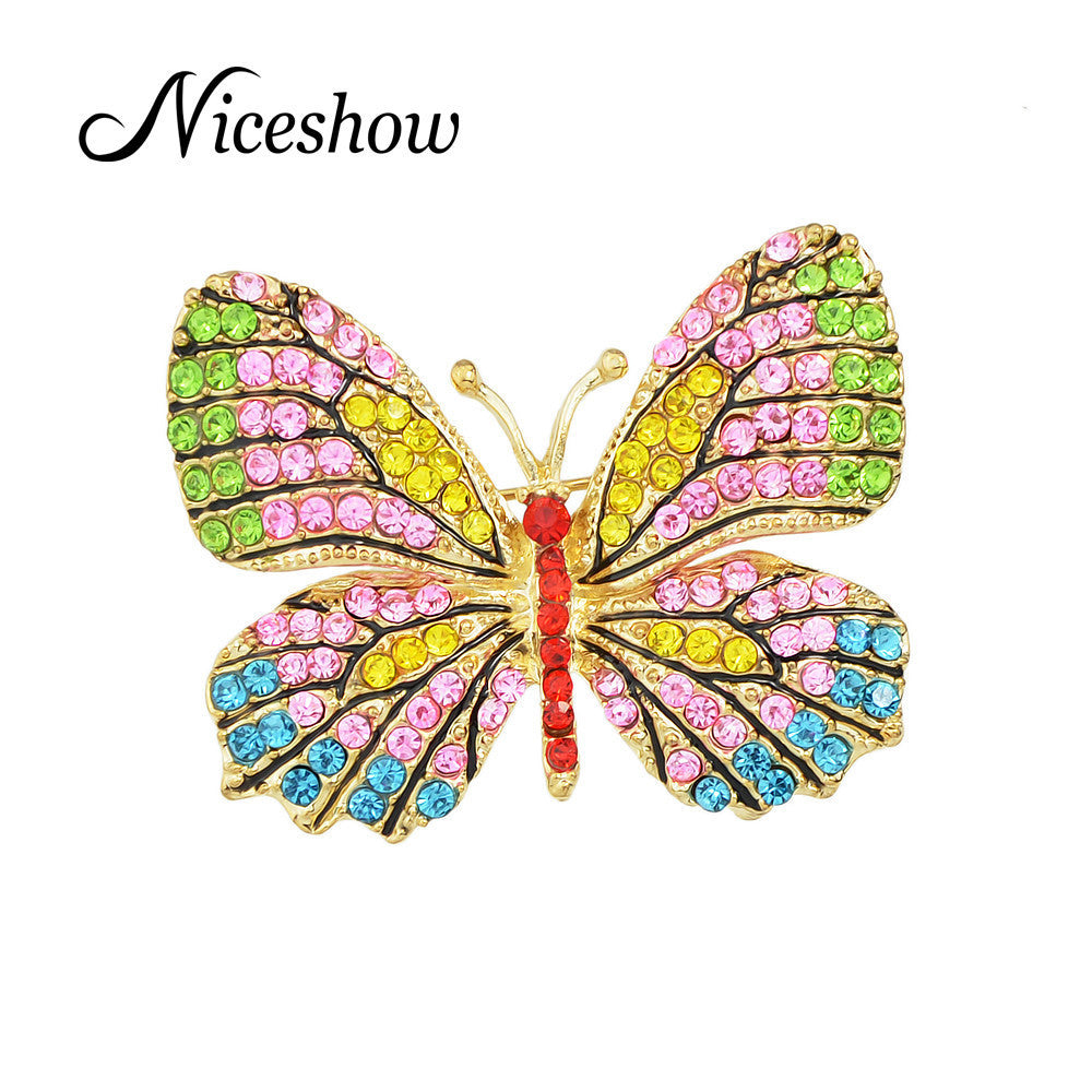 10 MINUS Jewelry Luxury Brooch Gold Plated with Colorful Rhinestone Lovely Butterfly Brooches for Lady Accessories Jewelry Luxury Brooch Gold Plated with Colorful Rhinestone Lovely Butterfly Brooches for Lady Accessories Jewelry Luxury Brooch Gold Plated with Colorful Rhinestone Lovely Butterfly Brooches for Lady Accessories