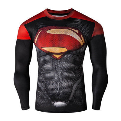 New Fashion Fitness Compression Shirt Men Cosplay Male Crossfit Plus Size Bodybuilding Men T shirt 3D Printed Superman Top - Best price in 10minus