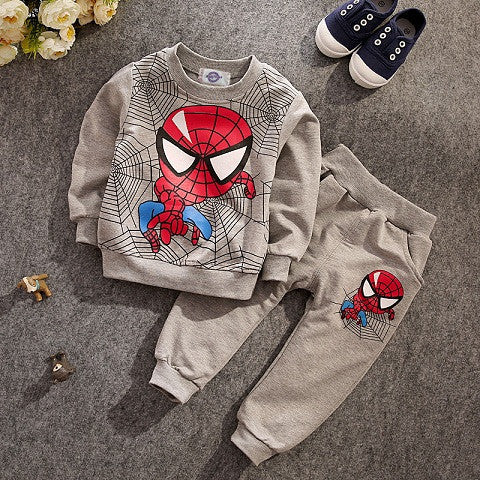 JT-181 Retail children clothing set 2017 fashion active suit kids spiderman sports clothing sets suit 2 pcs t-shirts + pants - 10MINUS: Online Shopping Destination with High-Quality
