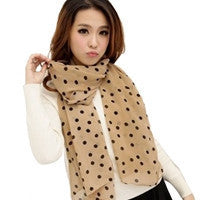 2016 New Stylish Girl Long Soft Silk Chiffon Scarf Brand poncho  Wrap Polka Dot Shawl Scarves Shawls For Women Casual Scarfs - 10MINUS: Online Shopping Destination with High-Quality