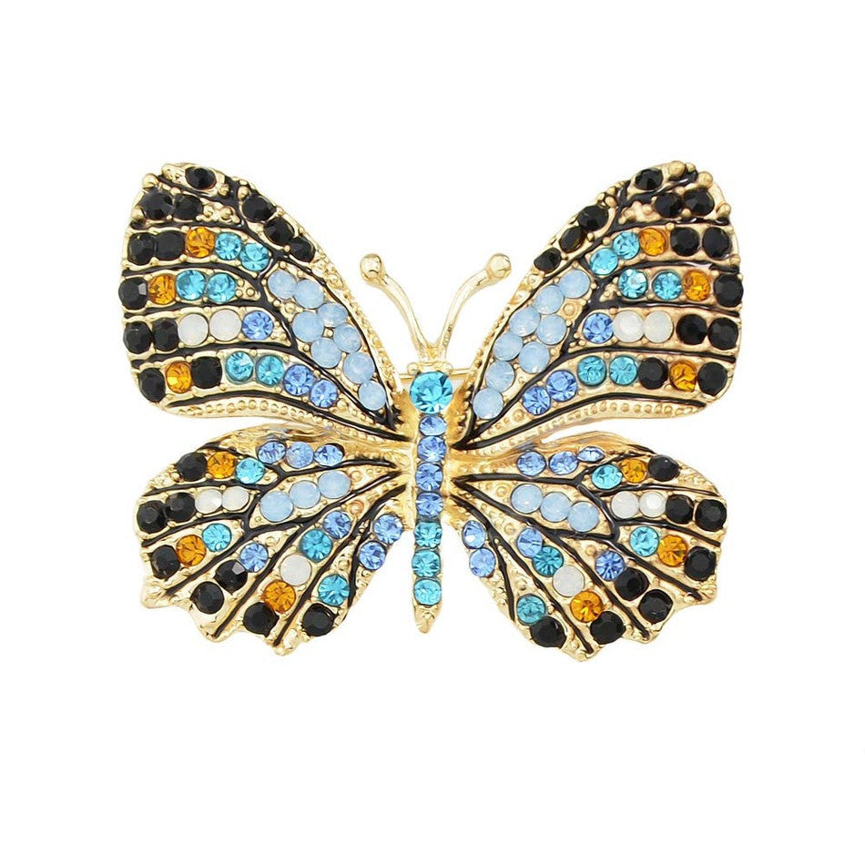 10 MINUS lakeblue Jewelry Luxury Brooch Gold Plated with Colorful Rhinestone Lovely Butterfly Brooches for Lady Accessories Jewelry Luxury Brooch Gold Plated with Colorful Rhinestone Lovely Butterfly Brooches for Lady Accessories Jewelry Luxury Brooch Gold Plated with Colorful Rhinestone Lovely Butterfly Brooches for Lady Accessories lakeblue