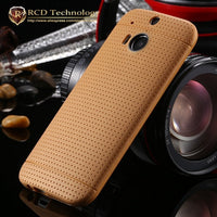 New hot ! Silicone TPU Hole Phone Case for HTC One M8 Fashion Soft Protective Accessories Cover Bags Black Brown for HTC M8 - 10MINUS: Online Shopping Destination with High-Quality