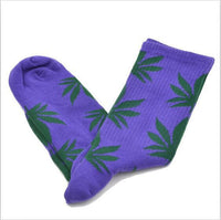 2016 Free Size Unisex Socks Long Fashion Plantlife Maple Style Weed Socks Skateboard Cotton Hiphop Fashion Men's Leaf Socks - 10MINUS: Online Shopping Destination with High-Quality