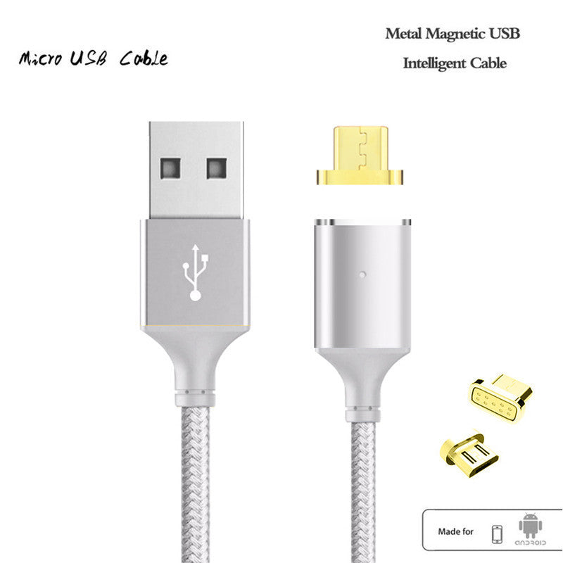 Magnetic Cable,Nylon Braided Micro USB Magnectic Cable Data Charge Cable Magnet Fast Charging Cable for Xiaomi,Samsung,Android - Best price in 10minus