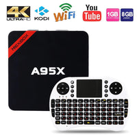 Max 2GB RAM+16GB ROM NEXBOX A95X Smart TV Box Amlogic S905X Quad core 64 Bit Android 6.0 4K 2.4GHz WiFi Media Player Set Top Box - 10MINUS: Online Shopping Destination with High-Quality