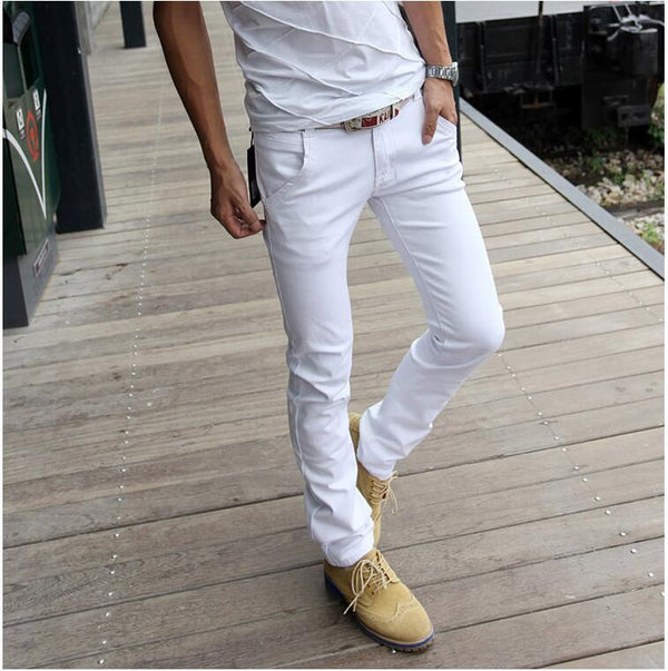 men jeans 2017 summer new mens jeans white slim fit Jeans men casual sexy skinny 28-40 - Best price in 10minus