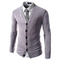 100% Brand New Spring Business Men Clothing Fashion Slim V Collar Cotton Long Sleeve Knit Cardigan Fashion Sweaters - 10MINUS: Online Shopping Destination with High-Quality