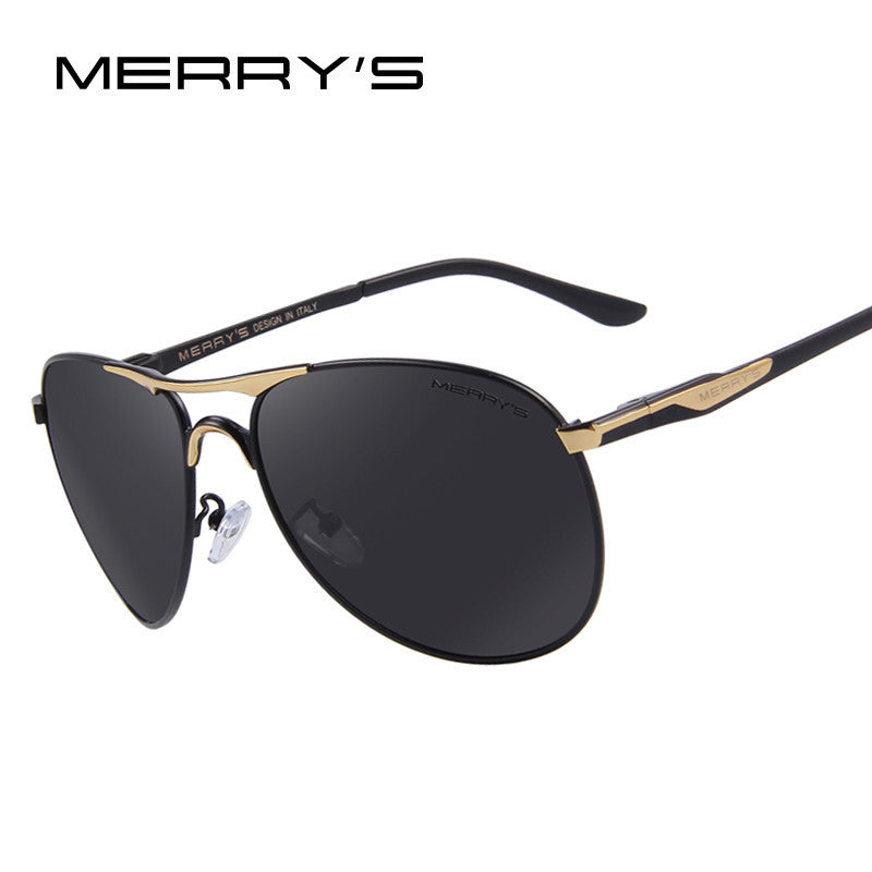 MERRY'S Men Aluminum Polarized Sunglasses Classic Brand Sunglasses EMI Defending Coating Lens Driving Shades S'8712 - 10MINUS: Online Shopping Destination with High-Quality