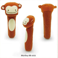 2017 New Baby Rattle Toy BIBI Bar Animal Squeaker Toys Infant Hand Puppet Enlightenment Plush Doll 8 Design KF983 - Best price in 10minus