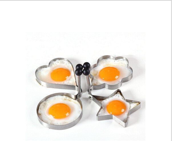 Multi-style Stainless Steel Kitchen Cooking Tools Love, Flower, Star, Round Shaped Biscuit Mold Set Fried Egg Pancake Mold - 10MINUS: Online Shopping Destination with High-Quality