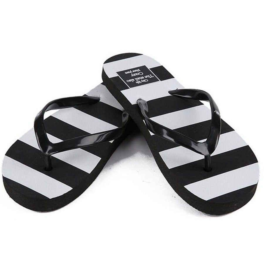 10 MINUS New Arrival Summer Women Flip Flops Striped Flat Slippers Casual Beach Sandals Female Leisure Shoes New Arrival Summer Women Flip Flops Striped Flat Slippers Casual Beach Sandals Female Leisure Shoes New Arrival Summer Women Flip Flops Striped Flat Slippers Casual Beach Sandals Female Leisure Shoes