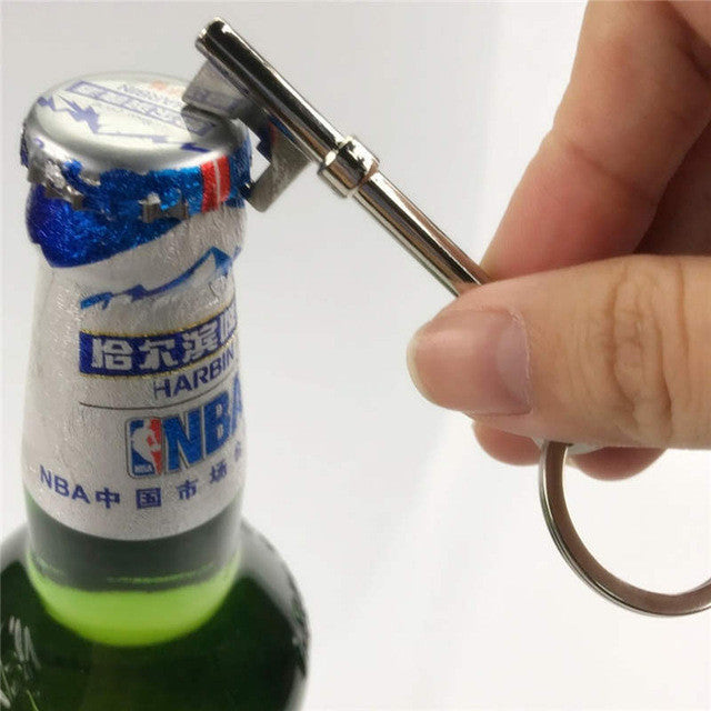 NEW Beer Bottle Opener Key Ring Keychain Zinc Alloy Key Chain Keyfob Bar Tool - 10MINUS: Online Shopping Destination with High-Quality