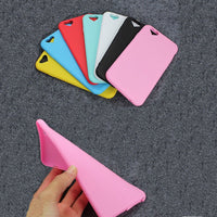 New Love Hole Case for iPhone 5S 6 6S 7 Plus Cover Candy Colors Soft TPU Silicon Phone Cases for iPhone 5 SE Coque Accessories - Best price in 10minus